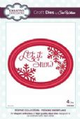 Sue Wilson Craft Dies - Festive Collection - Peeking Snowflake - CED3022